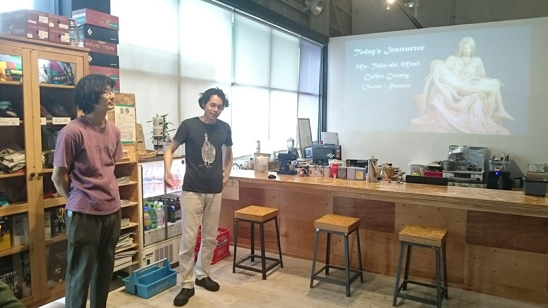 ミケランジェロとコーヒーの説明