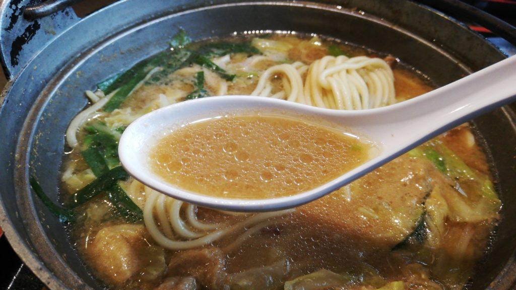 味の茶屋こぐれホルモンチャンポンのスープ